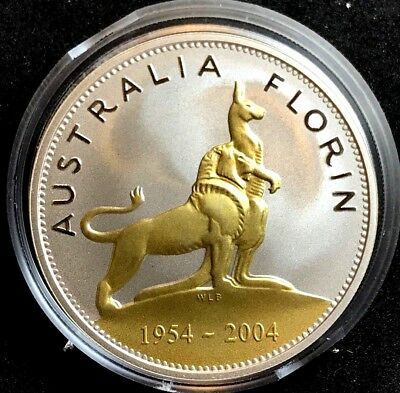 2004 Royal Visit 50th Anniversary Silver Proof Florin - Low Mintage
