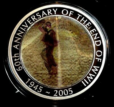 2005 Dancing Man Moving Image 1oz Silver Proof Dollar Coin