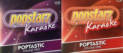 Popstarz CD Graphics Karaoke Poptastic Volumes One and Two Latest Hits CD-G