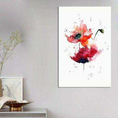 Watercolor Flower Art Oil Painting Canvas Print Picture Home Room Decor Unframed