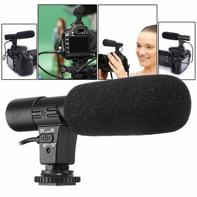 For Nikon D7000 D300s D5100 D5300 D3300 D3200 3.5mm DV Stereo Microphone Mic