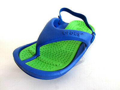 Crocs Athens Chidrens Sea Blue/Lime Sandals (R43B)