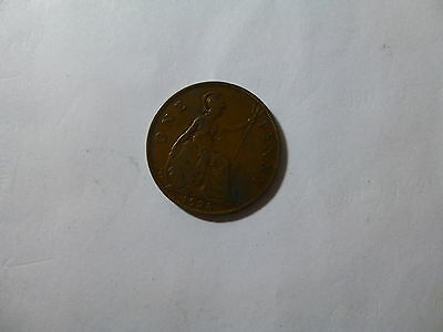 Old Great Britain Coin - 1928 Penny - Circulated