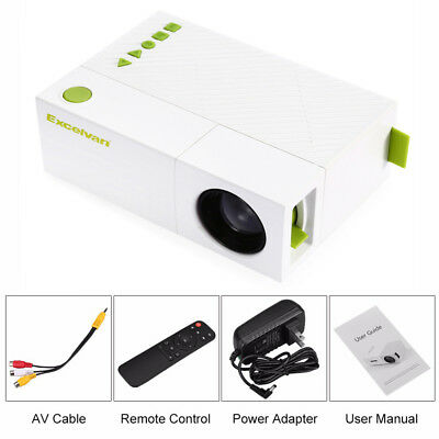 Mini Portable 24-60 inch LCD LED Proyector Projector PC Laptop HD 1080P USB U1R