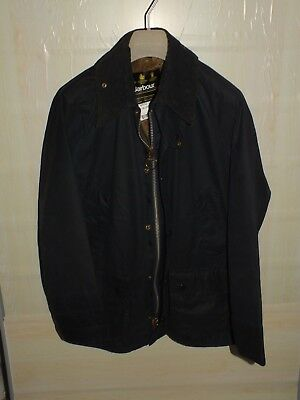 barbour bedale jacket waxed cotton  blue + inner pile 100%authentic c38/97 s