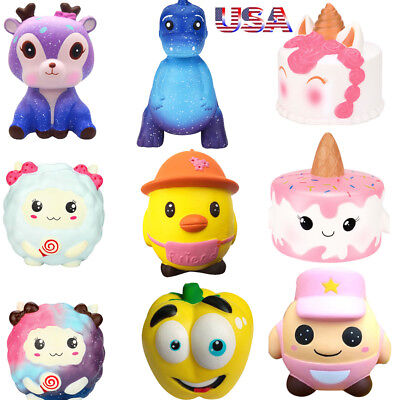 Jumbo Slow Rising Squishies Scented Squishy Squeeze Toy Reliever Stress Gifts US