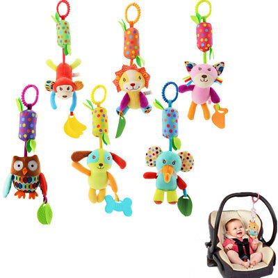 Baby Crib Stroller Cot Buggy Pram Car Seat Animal Hanging Rattles Dangle Kid Toy