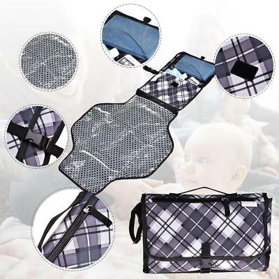 Baby Nappy Diaper Changing Change Clutch Mat Foldable Pad Handbag Wallet Style