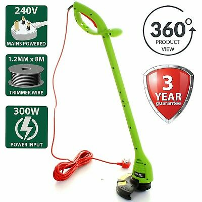 300W Grass Trimmer Strimmer Cutter Lawn Electric Garden Heavy Duty 220mm Cutting