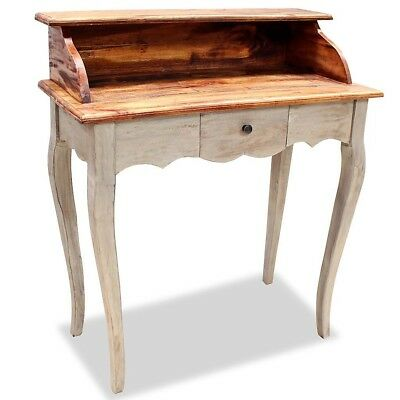 Antique Style Solid Wood Writing Study Desk Handmade Home Office PC Laptop Table