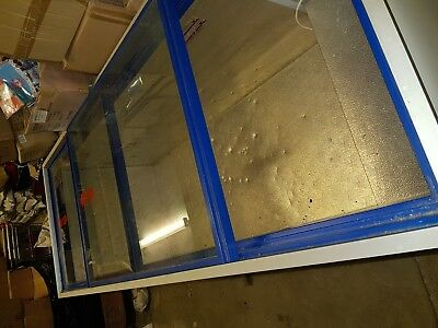 Used Large 7ft Commercial Deep Chest Freezers With Double Glass Sliding Doors