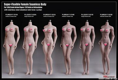 1/6 Phicen Steel Skeleton Seamless Pale Mid Bust S18A Female Body Toy TBLeague