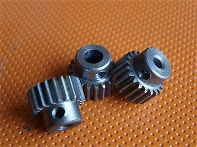 0.5 Mod 40T Pinion Gear Steel Spur Gears Bore 5/6/6.35mm With Set Screws