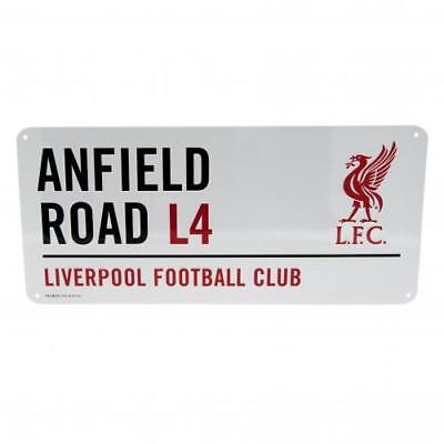 Liverpool Fc Street Sign Plaque White Football Anfield Road L4 LFC Team Fan New
