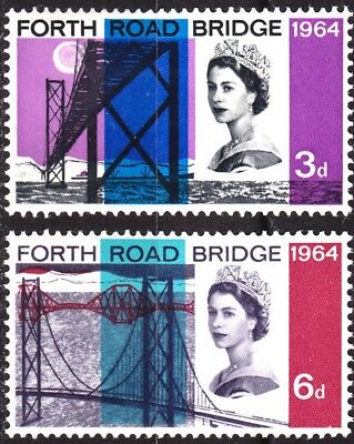 GB QEII 1964 Forth Road Bridge Set Ordinary SG659-660 Unmounted Mint