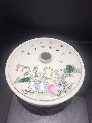 Antique Chinese Families Rose Pot With Lid Republic 陶真玉作