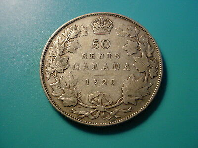 Canada - Silver - 1920 50-Cents In Nice Condition