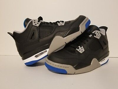 Nike Air Jordan Retro 4 Motorsport Blue Youth SZ 6.5 Y 408452006(10 11 12 13 14)