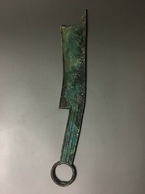 Rare Chinese bronze knife shape coin with ancient Chinese inscription