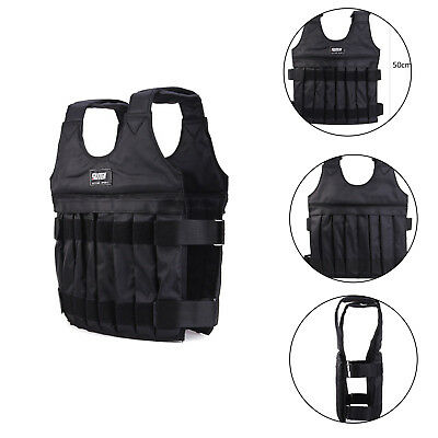20kg Max Loading Weighted Vest Running Fitness Training Jacket Adjustable