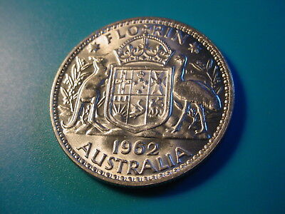 Australia - Silver - 1962 Florin In Nice Uncirculated Condition