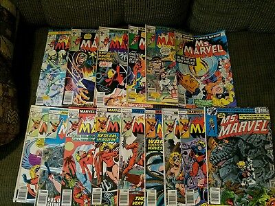 lot of 15 Marvel comic books Ms Marvel