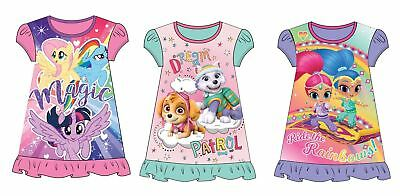 Girls Childrens Character Nightdress Nightie Nightgown Sleepwear Gift