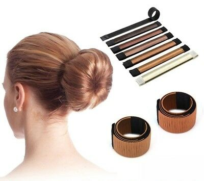 French Hair Bun Magic Bands Twist Easy Snap Tool Former DIY Styling Donut Maker