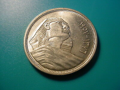 Egypt - Silver - Ah1376/1957 10-Piastres In Uncirculated Condition