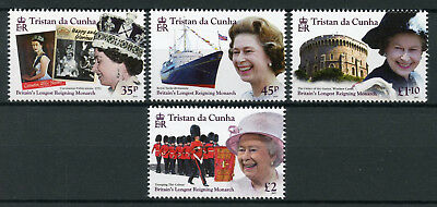 Tristan da Cunha 2015 MNH Queen Elizabeth II Longest Reign 4v Set Royalty Stamps