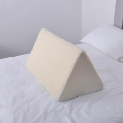 Triangle Knee Wedge Support with FLEECE Topped Cover - UK Made