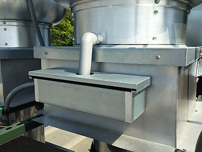 "Exhaust Fan Grease Box - 15 3/4"" x 5 1/16"" x 3 3/4"" (Includes 1 1/2"" Down Spout)"