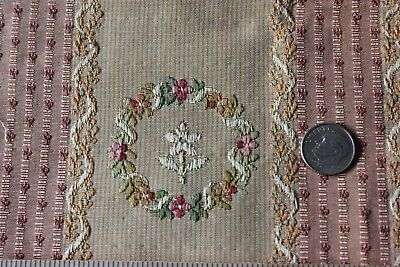 """French Antique 19thC """"Marie Antoinette"""" Silk & Cotton Brocade Lined Fabric"""