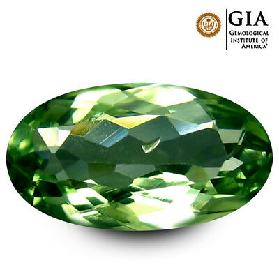 0.85 ct GIA Certified Oval Cut (9 x 5 mm) Yellownish Green Chrysoberyl Gemstone
