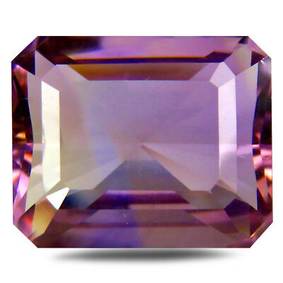 12.24 ct AAA Octagon (15 x 12 mm) Purple and Yellow Ametrine Natural Gemstone