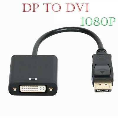 Display Port DP Male to DVI-D & DVI-I Female Adapter Cable Converter Lead 4K HD