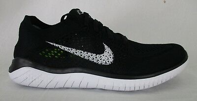 259a71aa8c3 NIKE MENS FREE RN Flyknit 2018 Shoes 942838 001 Black White Size 9 ...