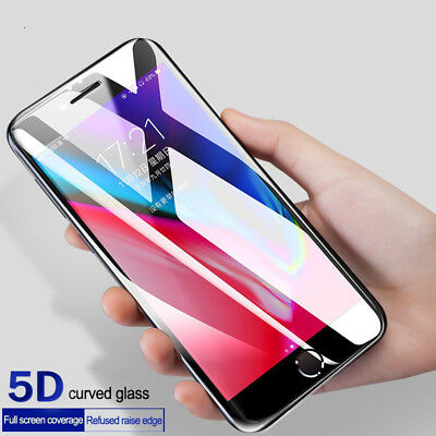 5D Clear Full Cover iPhone X XS MAX XR Tempered Glass Screen Protector for Apple