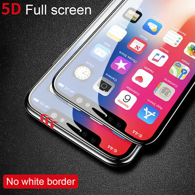 5D Full Coverage Apple iPhone XS Max 8 7 6S Plus Tempered Glass Screen Protector