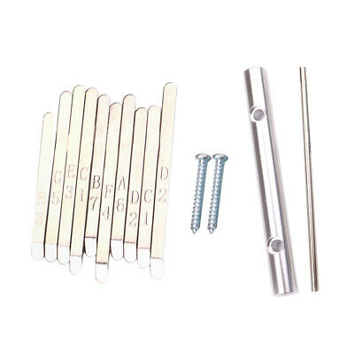 10 Pcs Steel Keys for African Mbira Kalimba Thumb Piano Replacement Parts