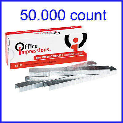 [No Tax]  Office Impressions Standard Staples, 50,000-count