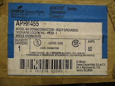 Crouse Hinds Apr6455, Arktite 60 Amp Pin & Sleeve Connector Body- New- Ps8