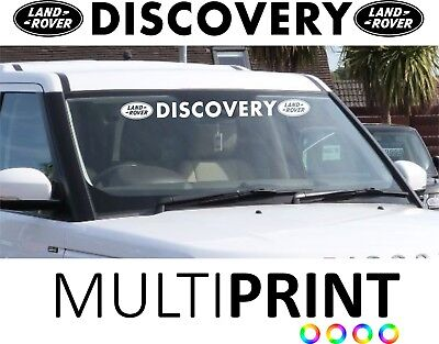 Land Rover Discovery Sun Strip Sun Visor Windscreen Sticker Glass Disco LAN3