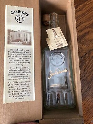 Jack Daniels Barrel House 1 Limited Edition Whiskey Bottle and Wooden Box  empty