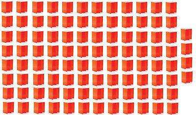 100 Pack of Foldable Cardboard Portable Seat Chairs Orange