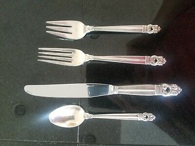 Royal Danish by International Sterling Silver Flatware 75 pieces