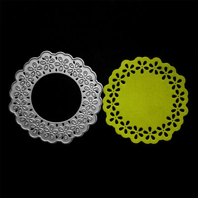 Round Lace Frame Metal Cutting Dies For DIY Scrapbooking Album Cards MakingPPTY