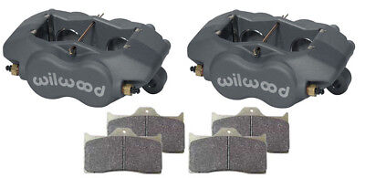 """Wilwood Forged Dynalite Internal Brake Calipers & Pads,0.81"""" Discs,1.75"""",gray"""