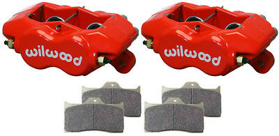 """Wilwood Forged Dynalite Internal Brake Calipers & Pads,0.81"""" Discs,1.75"""",Red"""