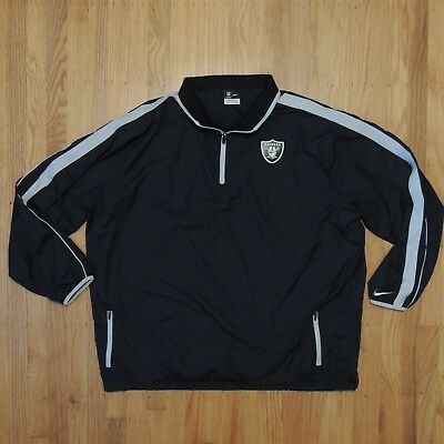 Discount OAKLAND RAIDERS NIKE NFL On Field Windbreaker Jacket Black Silver 1